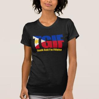 TGIF Filipina with Philippine Flag Tee Shirt