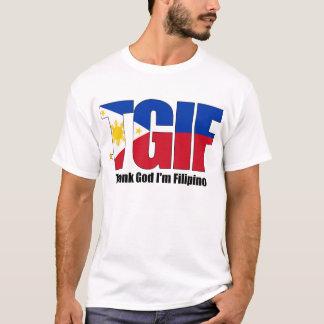 TGIF Filipino with Philippine Flag T-Shirt