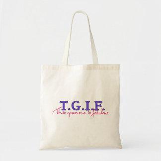 TGIF-Gramma Tote Bags