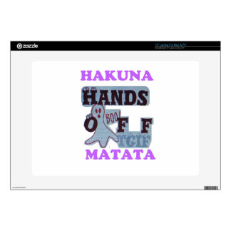 TGIF Hakuna Matata Hands Off Boo Funny Face Decal For Laptop