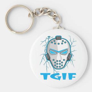 TGIF Hockey Keychain