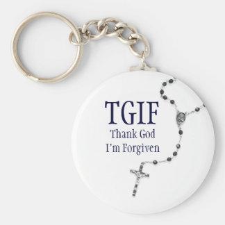 TGIF Rosary Keychain