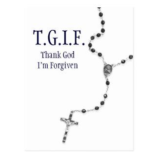 TGIF Rosary Postcard