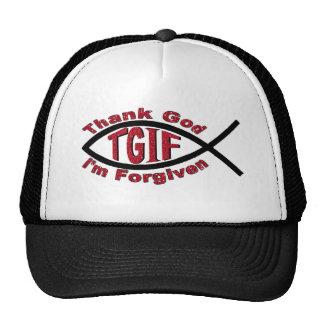 TGIF Thank God I'm Forgiven Inspired by Mark 3 28 Trucker Hat