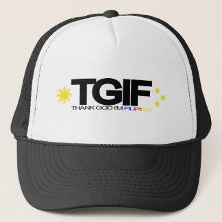 """TGIF """"Thank God I'm Filipino"""" Trucker Hat"""