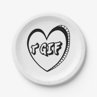 TGIF Thank God It's Friday In A Heart 7 Inch Paper Plate