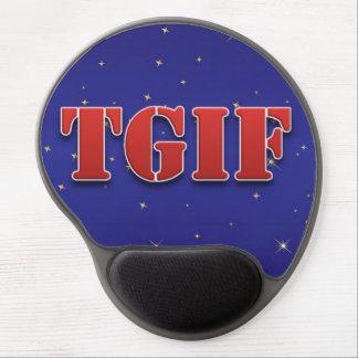 TGIF Thank God It's Friday Sparkle Gel Mousepad
