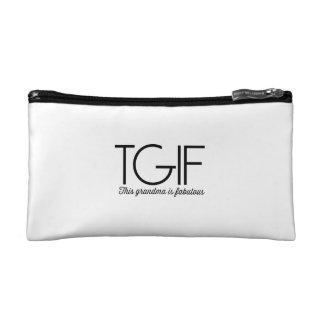 TGIF. This grandma is fabulous! Cosmetics Bags