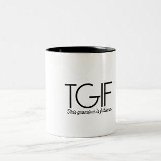 TGIF. This grandma is fabulous! Two-Tone Coffee Mug