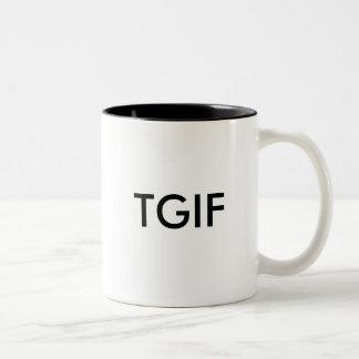 TGIF Two-Tone COFFEE MUG