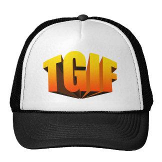 TGIF Yellow Rainbow Trucker Hat