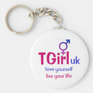 "TGirl uk ""love yourself live your life"" keyring"