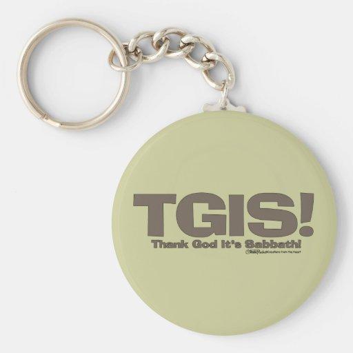 TGIS Sabbath design Basic Round Button Keychain