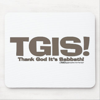 TGIS Sabbath design Mouse Pad
