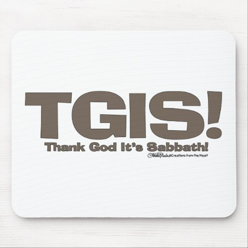 TGIS Sabbath design Mouse Pad