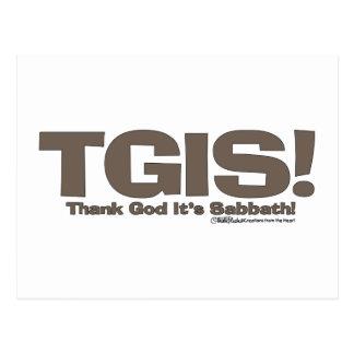TGIS Sabbath design Postcard