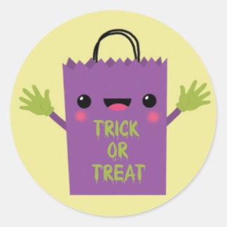 TGrick or Treat Bag.jpg Classic Round Sticker