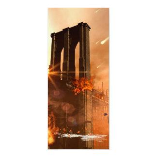 Th apocalypse 4x9.25 paper invitation card