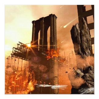 Th apocalypse 5.25x5.25 square paper invitation card