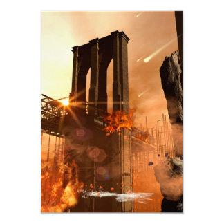 Th apocalypse 3.5x5 paper invitation card