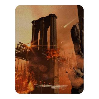 Th apocalypse 4.25x5.5 paper invitation card