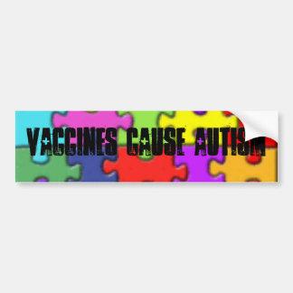 th_autism1 autismo de la causa de las vacunas etiqueta de parachoque