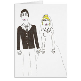 Th creepy wedding 2 greeting card