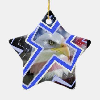 Th Cross and the American Symbols Ornament
