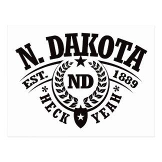 th Dakota, Heck Yeah, Est. 1889 Postcard
