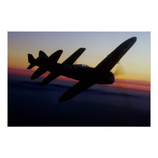 """Th de la república P-47 del """"mustango P-1 norteame Posters"""