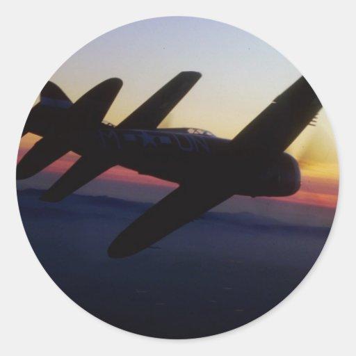 """Th de la república P-47 del """"mustango P-1 norteame Pegatinas"""