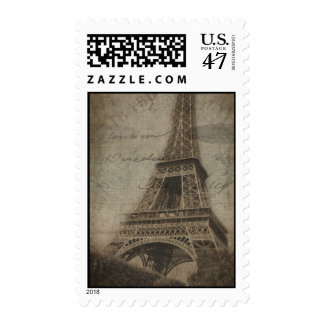 Th Eiffel Tower in Paris postage stamps