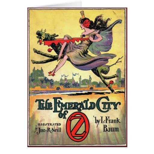 TH Emeral d CIty of Oz book cover 1910 Greeting Card