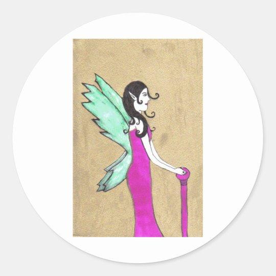 Th Golden Fairy Classic Round Sticker