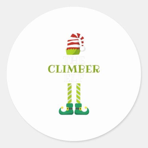 Th Im The Climber Elf Christmas Pajama Classic Round Sticker