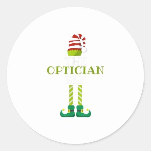 Th Im The Optician Elf Christmas Pajama Classic Round Sticker