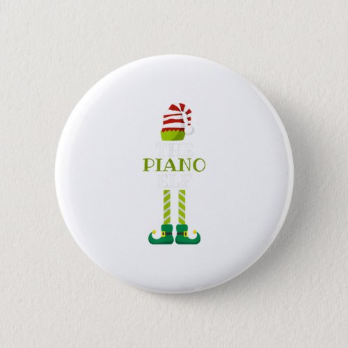 Th Im The Piano Elf Christmas Pajama Ma Button