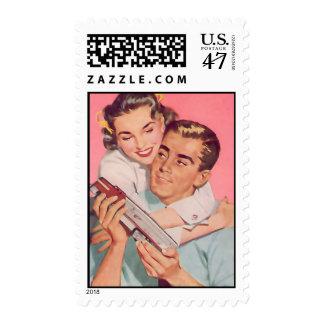 Th Kitsch Bitsch : Vintage Couple Graphic Postage Stamp