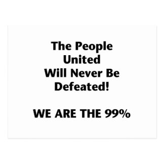 Th People United Will Never Be Defeated Postcard