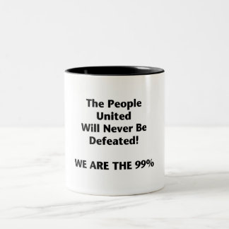 Th People United Will Never Be Defeated Two-Tone Coffee Mug