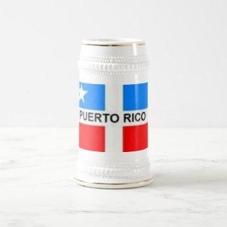 th_PUERTORICOSFLAG Jarra De Cerveza