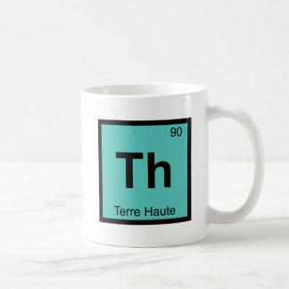 Th - Terre Haute Indiana Chemistry Periodic Table Coffee Mug