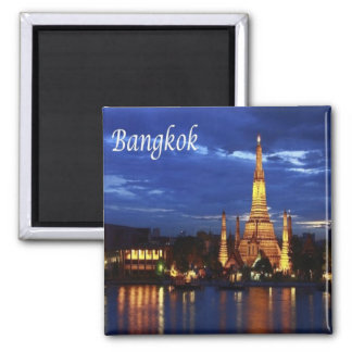 TH - Thailand - Bangkok - By Nigth 2 Inch Square Magnet