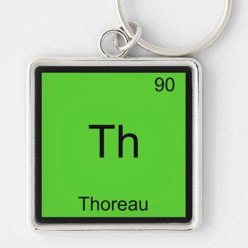 Th - Thoreau Funny Chemistry Element Symbol Tee Key Chain