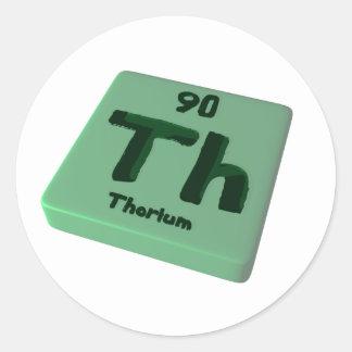 Th Thorium Classic Round Sticker