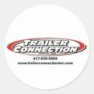 th_TRAILER CONNECTION CUSTOM.jpg 3 Classic Round Sticker