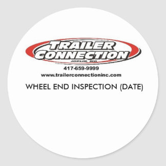 th_TRAILER CONNECTION CUSTOM.jpg 3... - Customized Classic Round Sticker
