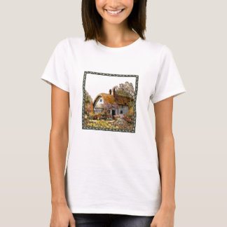 Thached Vintage Country Cottage Painting T-Shirt