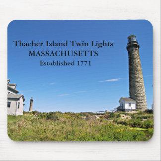 Thacher Island Twin Lights, Massachusetts Mousepad