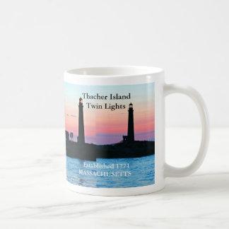 Thacher Island Twin Lights, Massachusetts Mug